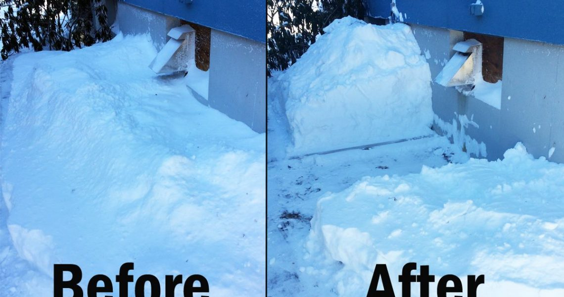 Keep Snow Build Up Away from Venting Systems